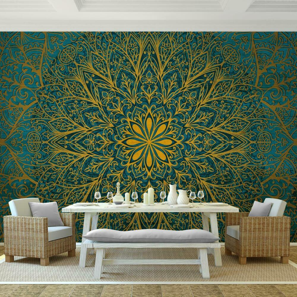 fototapeten tapete fototapete vlies mandala wandbilder xxl 3d effekt wohnzimmer ebay. Black Bedroom Furniture Sets. Home Design Ideas
