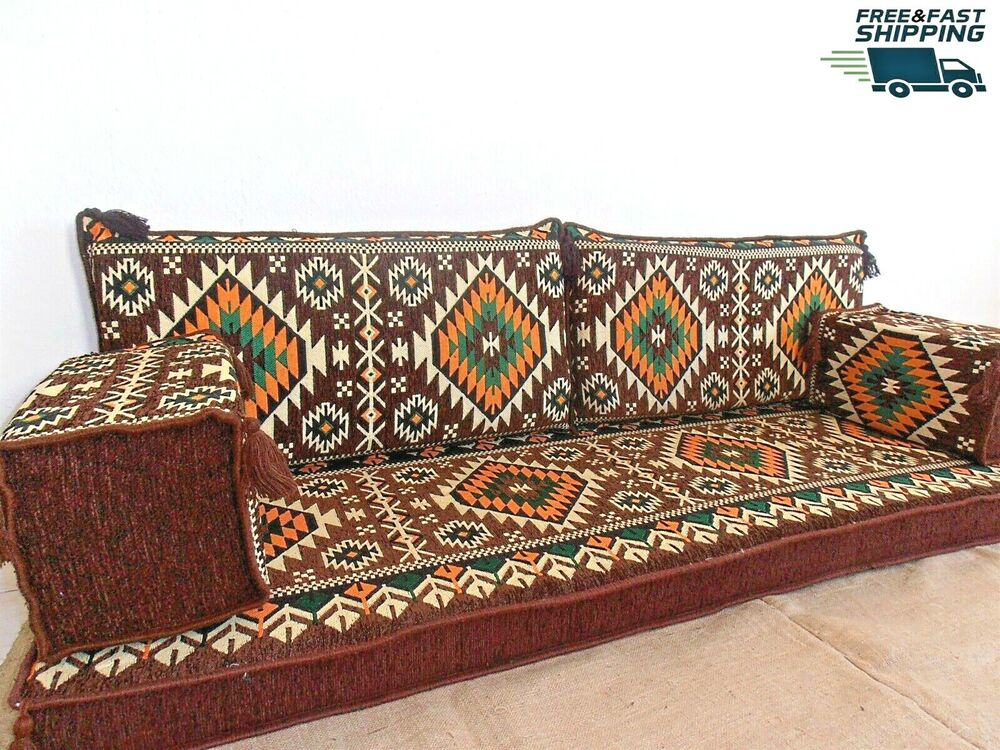 arabic floor seating floor sofa oriental seating arabic furniture couch ma 52 742567651287 ebay. Black Bedroom Furniture Sets. Home Design Ideas