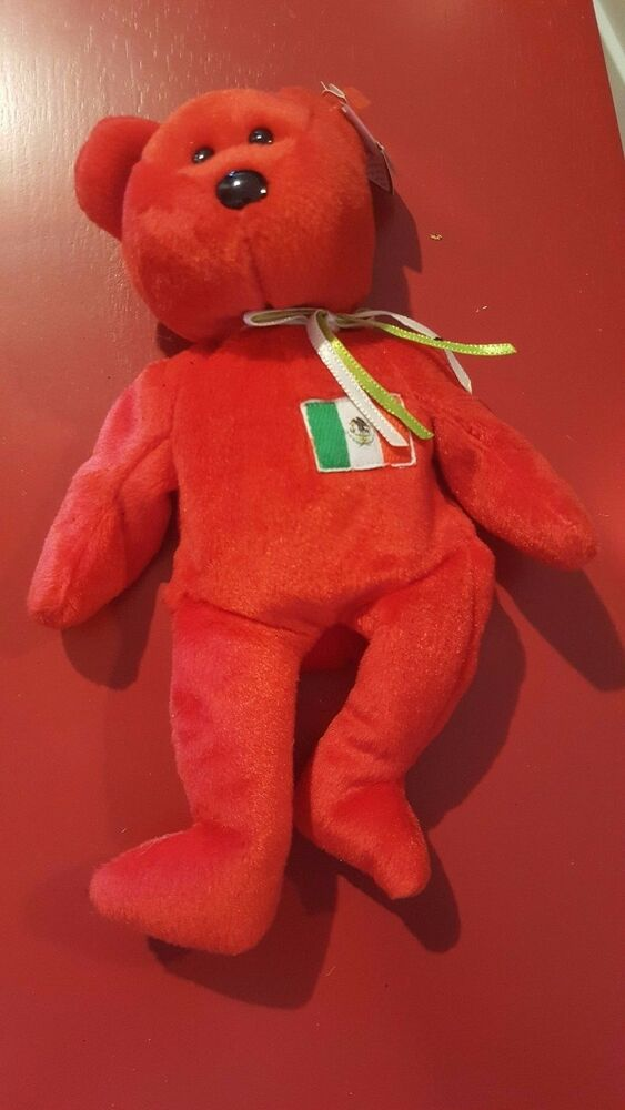 Details about Ty Beanie Baby Italian Osito Bear Italy Red Born 5 February  1999 641f7a2bba0