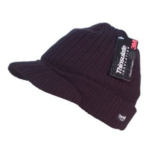 Details about Unisex Mens Ladies Peaked Beanie Thinsulate Thermal Winter  Ski Hat With Peak fb2dd19ab3a
