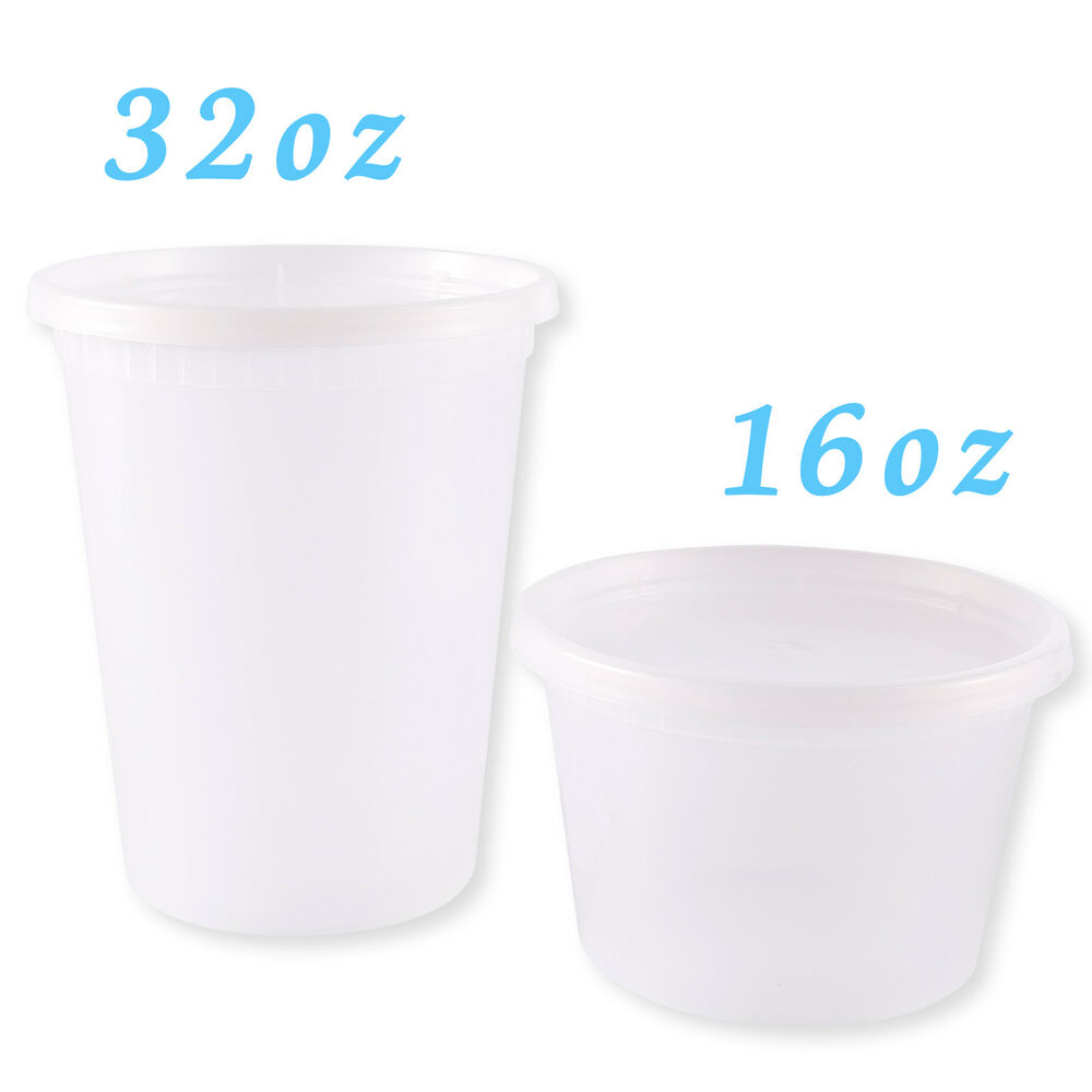 Plastic Soup Food Grade Disposable Containers Take Out w ...