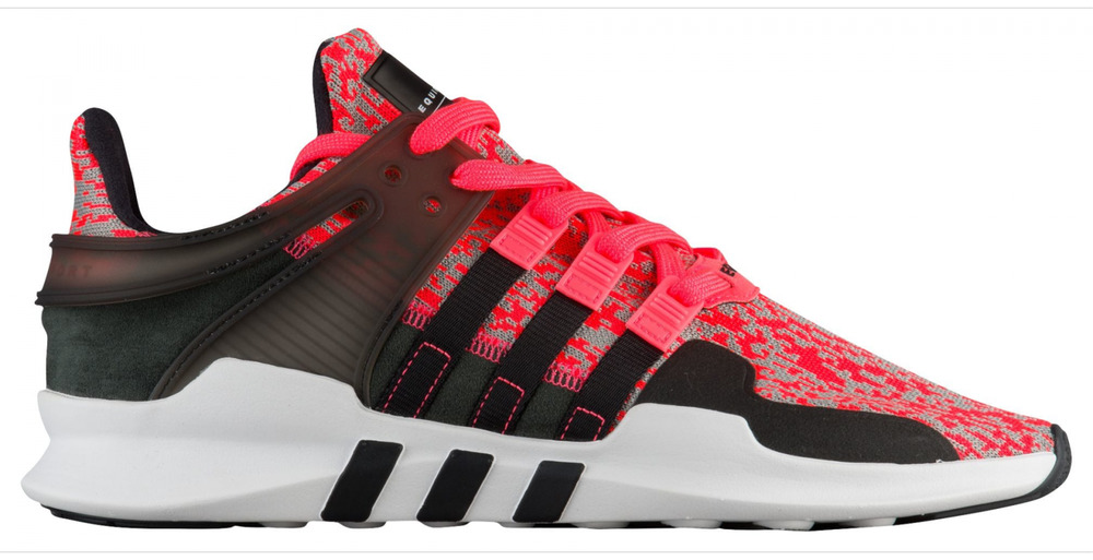 finest selection 71caf dceaa Details about Mens Adidas EQUIPMENT SUPPORT ADV Black Pink RunningTrainers  CG2950