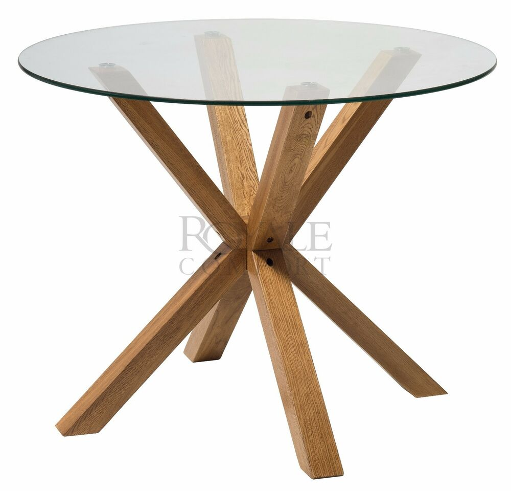 Milano Range Solid Oak Glass Coffee Dining Table Lamp End