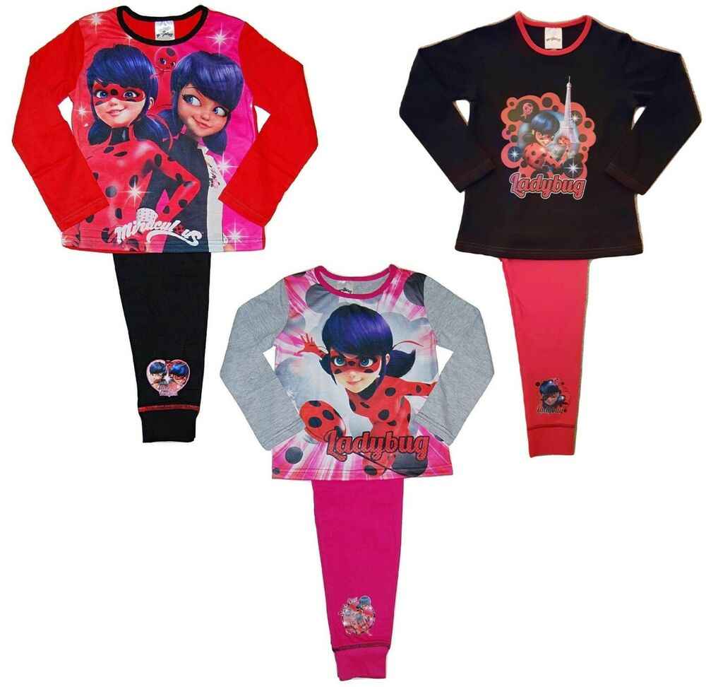 836a9bb39 Miraculous Ladybug Girls Pyjamas 5-6 Years | eBay