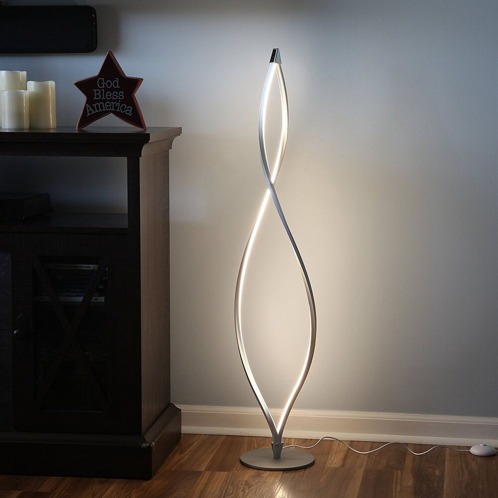 Modern LED Floor Lamp Unique Twisted Lighting Dimmable ...