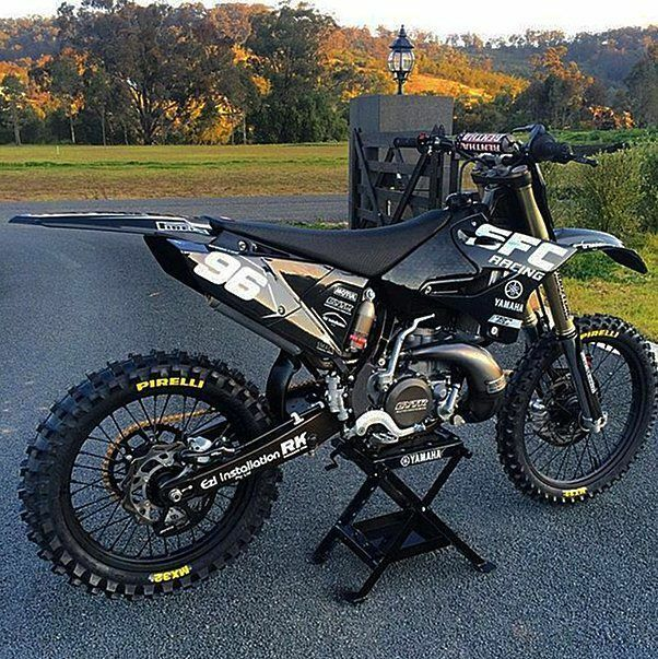 Yamaha All Black YZ125/250 2 Stroke Full Graphics Decals ...