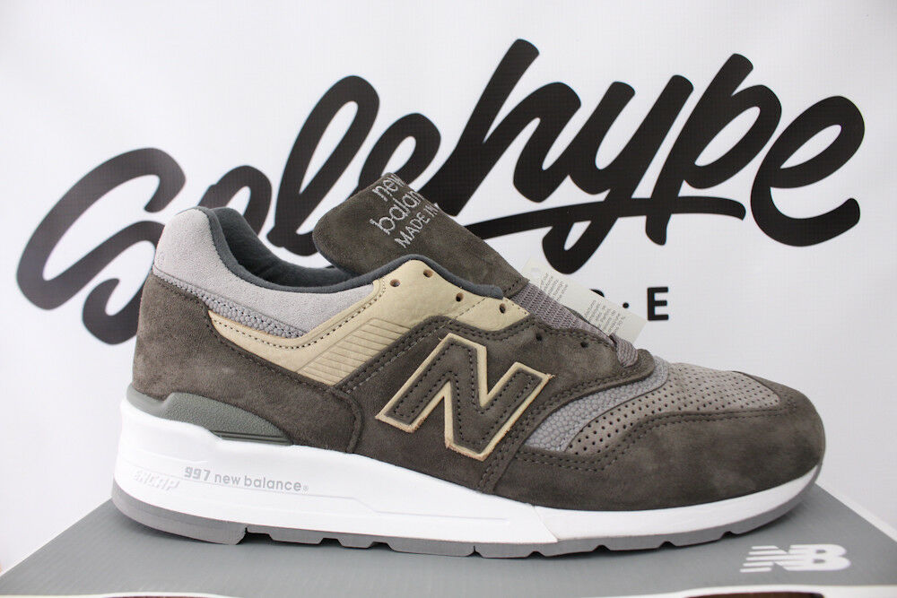 Details about NEW BALANCE 997 MADE IN USA COOL GREY SUEDE TAN KHAKI BROWN  M997FGG SZ 12 89fb968d70