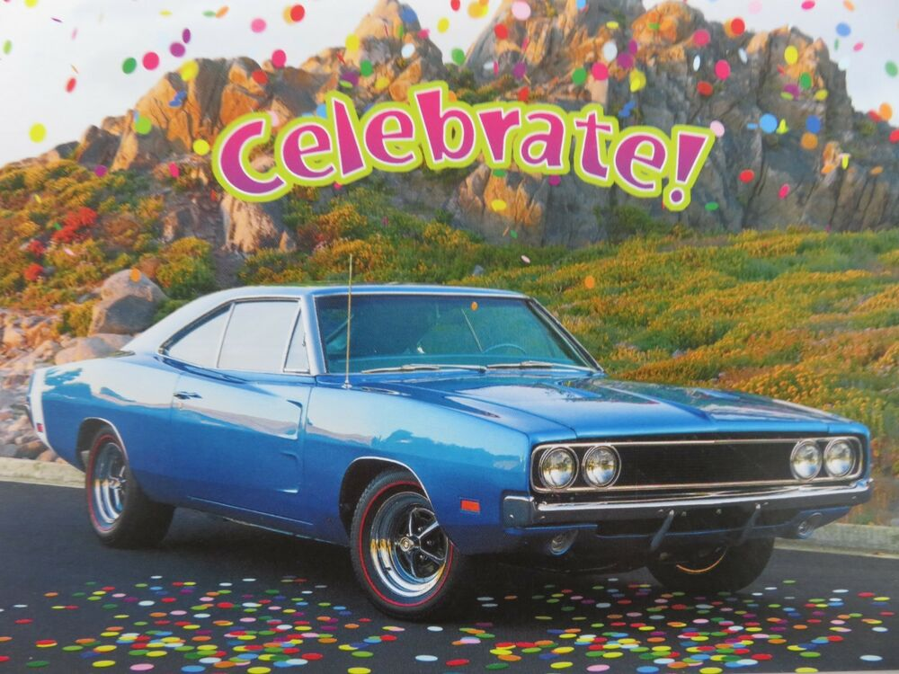 Happy Birthday White Convertible Classic Car Greeting Card Envelope 300074