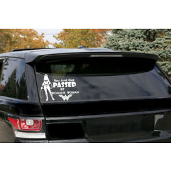 Wonder Woman ''You just got passed by Wonder Woman'' Vinyl Stickers-Funny-Decal