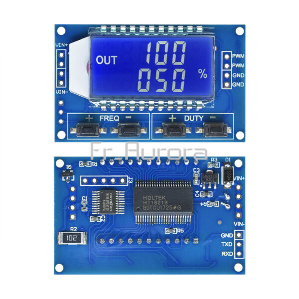 PWM Pulse Frequency Duty Cycle Adjustable Module Square Wave Signal Generator