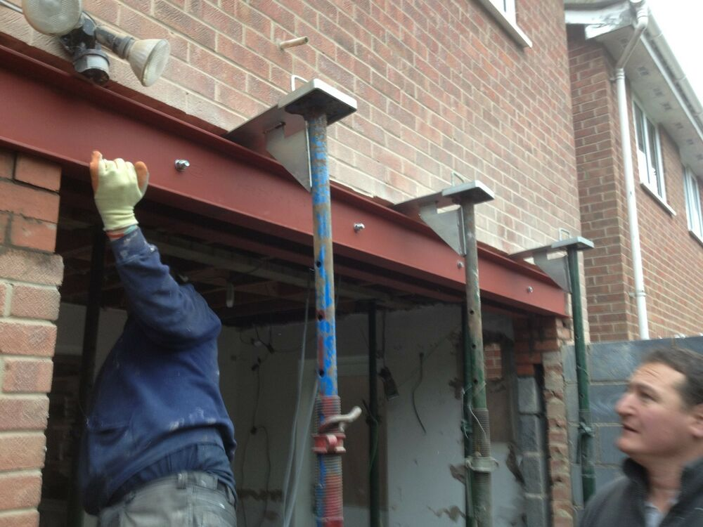 Steel Beam Rsj S Drilled Bolted Welded Builders Extension