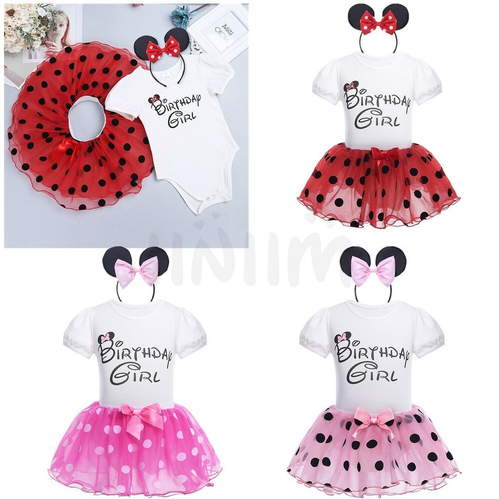 24dba29ee7ae Details about Toddler Princess Birthday Girl Party Dress Kids Baby Tutu  Skirt Romper Clothes
