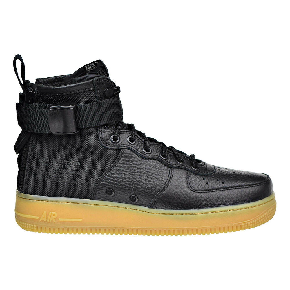 outlet store 1873b c2eae Details about Nike SF Air Force 1 MID Mens Shoes Black Gum Light Brown  917753-003