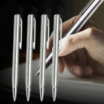 New Stainless Steel Pen Ball Point Office Ballpoint Writing Student Stationery