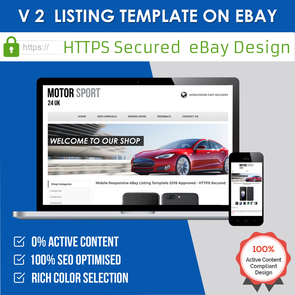 ebay mobile responsive template auction listing professional https secured 2018 ebay. Black Bedroom Furniture Sets. Home Design Ideas