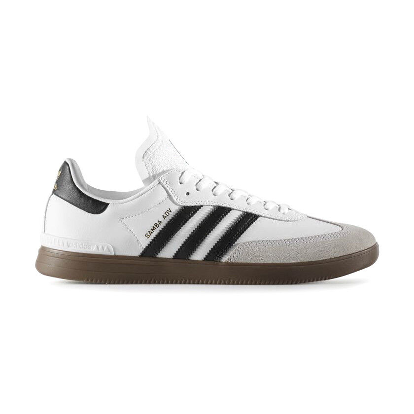 online store 48665 ed56a Details about Adidas - Samba ADV   Mens Skate Shoes - BY3931   White   Black    Gum