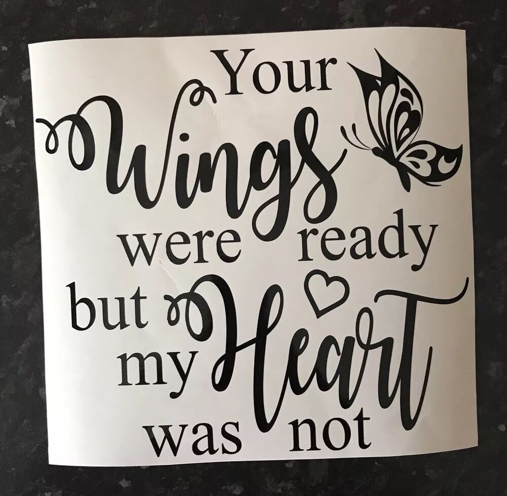 Details about your wings were ready decal vinyl sticker ikea ribba frame diy gift plaques
