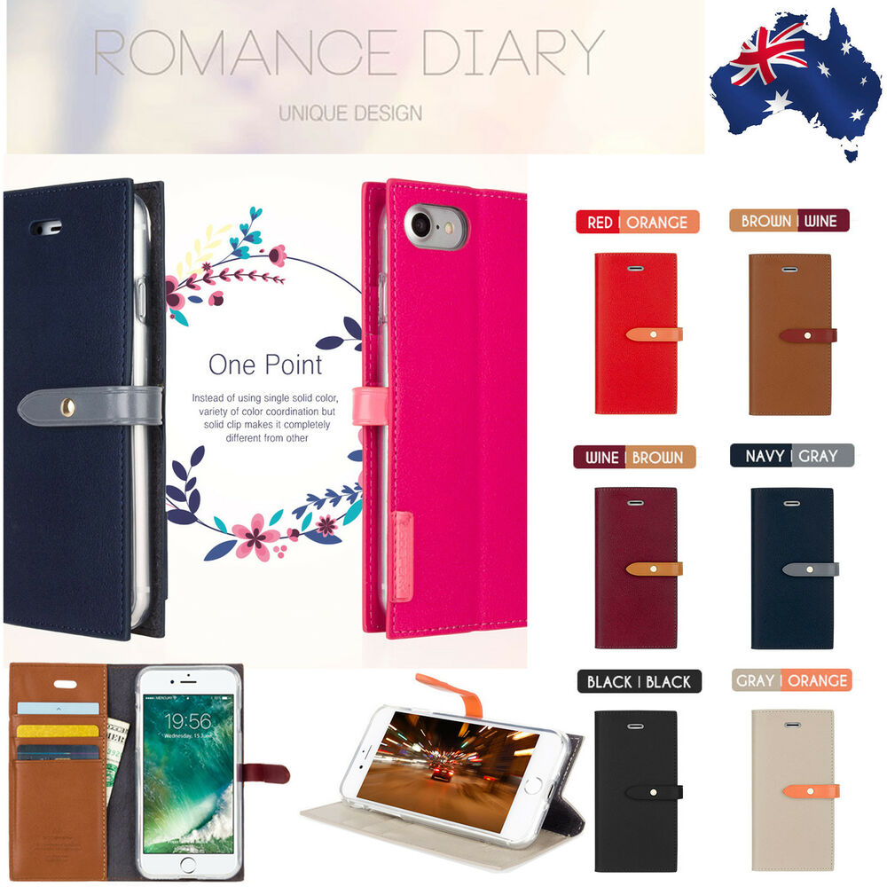 Clearance Leather Romantic Diary Wallet Flip Case For Iphone 6 6s 7 Goospery Fancy Brown Black 8 Plus Ebay
