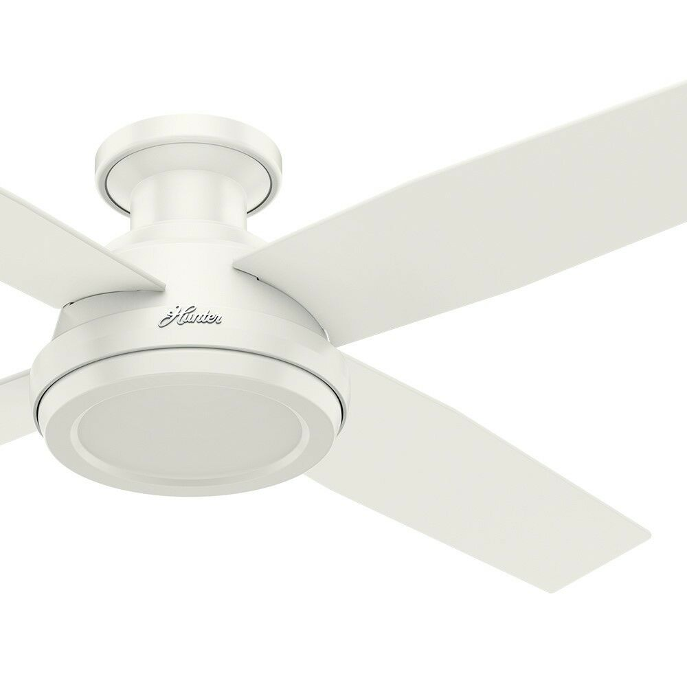 Hunter 52 Quot Low Profile No Light Ceiling Fan With Remote