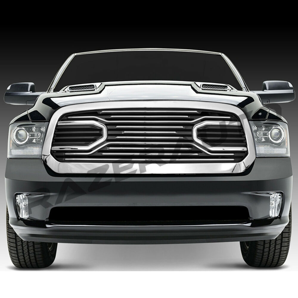 1500 Dodge Ram Accessories: 13-17 Dodge RAM 1500 Big Horn Chrome Front Packaged Grille