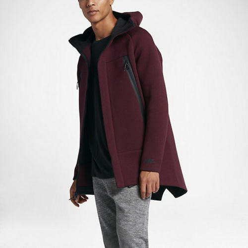 8184647752 Details about NIKE NEW SPORTSWEAR TECH FLEECE PARKA JACKET MAROON