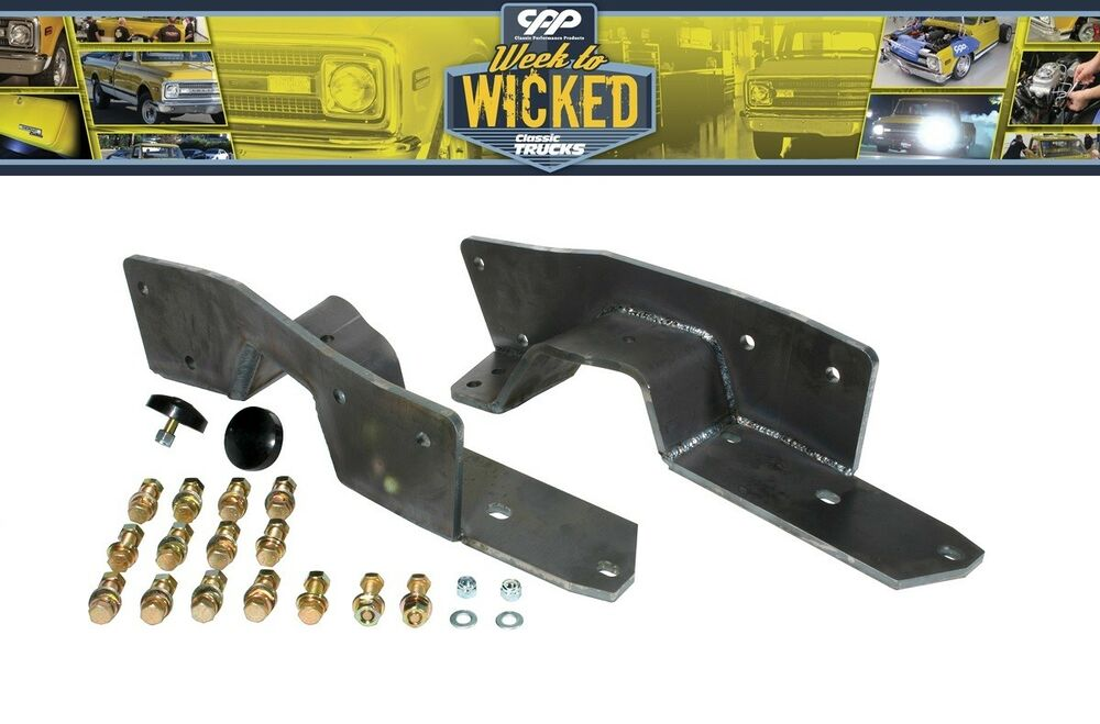 1963-1972 CHEVY C10 AND GMC TRUCK REAR FRAME C NOTCH KIT BOLT IN ...