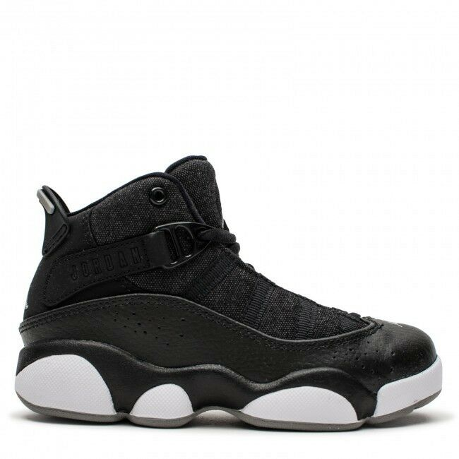 be5985835540e4 Details about Nike JORDAN 6 RINGS (PS) NEW AUTHENTIC Black Silver White  323432-021