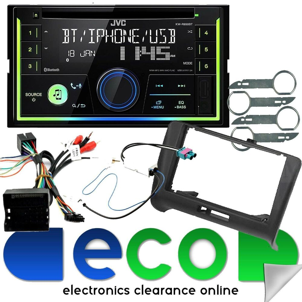 Audi Tt 2006 2014 Mk2 Jvc Cd Mp3 Usb Aux Full Bose System Car Stereo Fitting Kit Fascia Wiring Harness Ebay Upgrade
