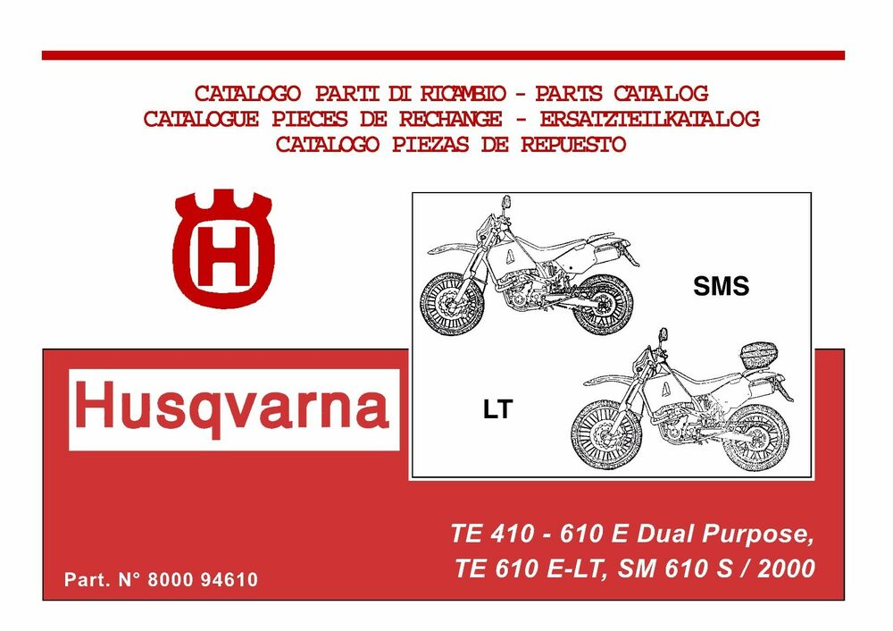 husqvarna te610 lt sm610 s 1998 2000 service repair manual