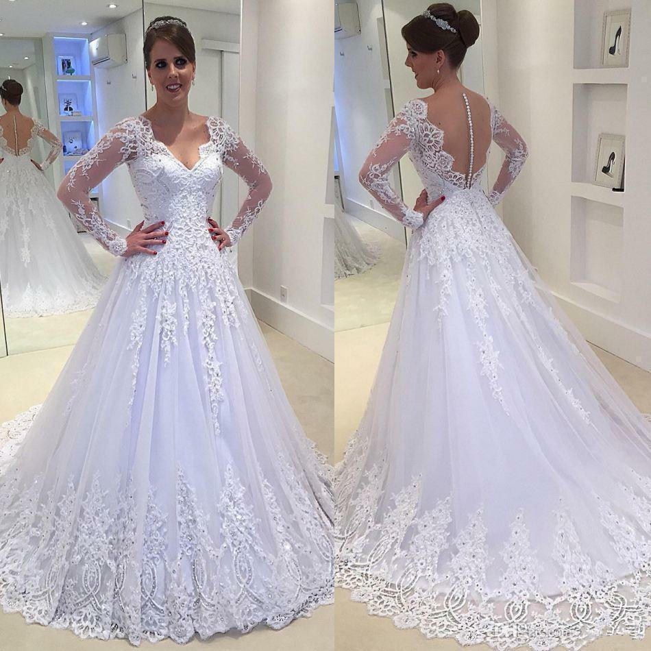 2018 new whiteivory wedding dress bridal gown custom size 6 8 10 2018 new whiteivory wedding dress bridal gown custom size 6 8 10 12 14 16 18 ebay junglespirit Images