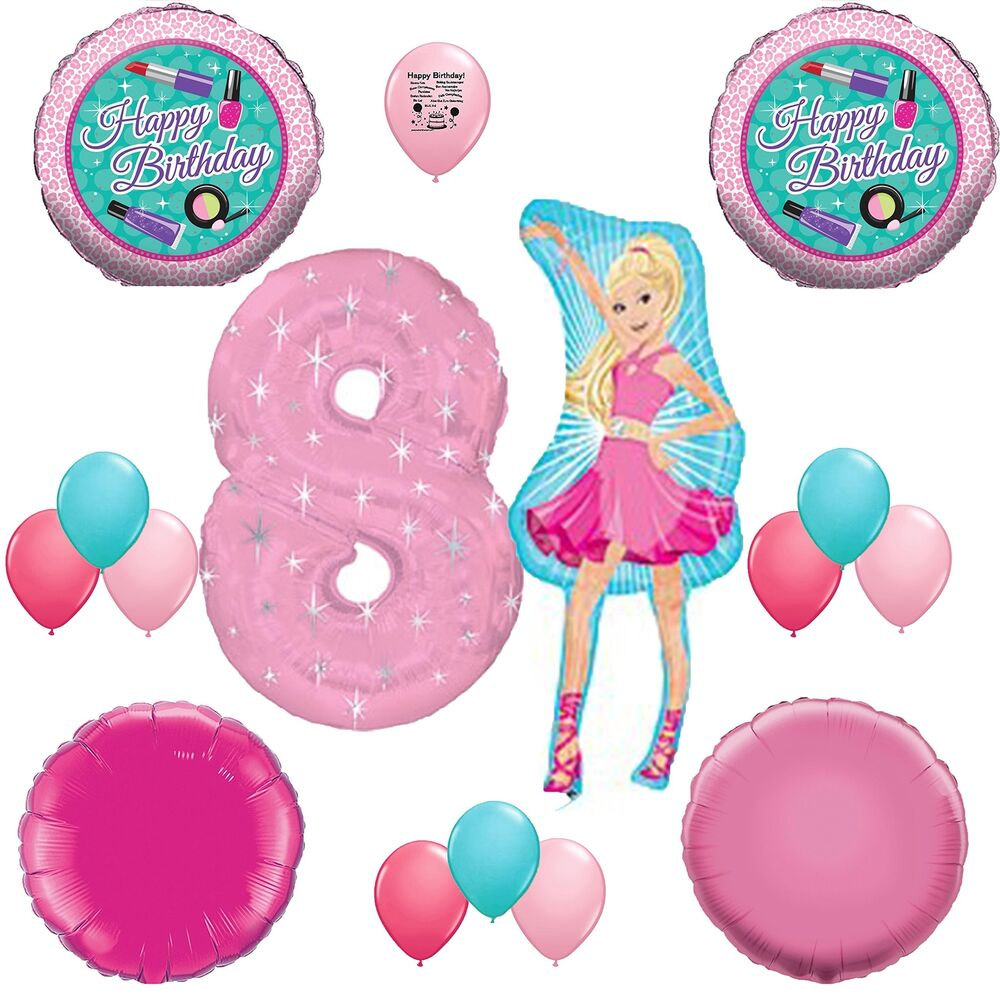Details About Barbie Party Supplies 8th Birthday Balloons Decoration Kit