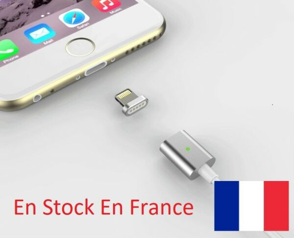 Cable USB Chargeur Magnetique Metal Android iphone Charger Magnetic Synchro Data