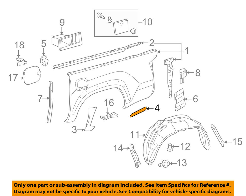 Toyota Tacoma 2015-2018 Service Manual: Rear Body Side Panel Protector