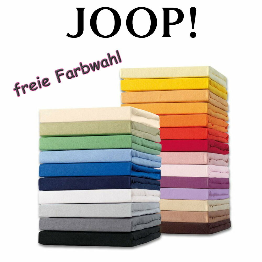 joop spannbettlaken spannbetttuch 180 200 x 200 cm 18 farben mit preisvorschlag ebay. Black Bedroom Furniture Sets. Home Design Ideas