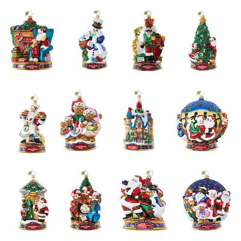 Radko 2017 Kringles Christmas Mingle 12 Ornament Set