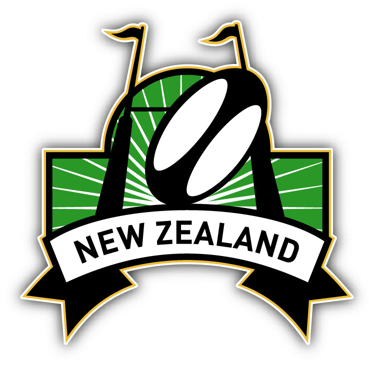 "New Zealand Rugby Sport Car Bumper Sticker Decal 5"" X 5"