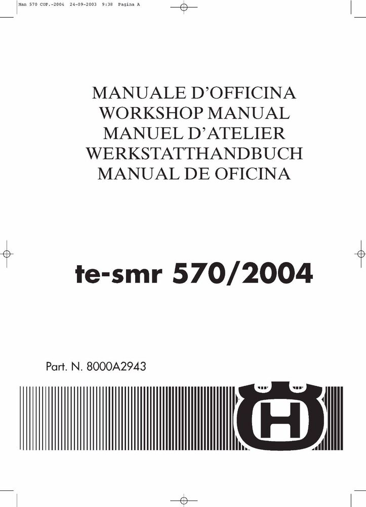 husqvarna te570 smr570 service repair manual 2003