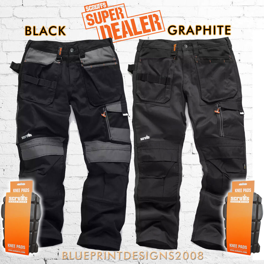 2f68bd849f Details about SCRUFFS 3D TRADE TROUSERS HARDWEARING CORDURA FABRIC with  FREE KNEE PADS