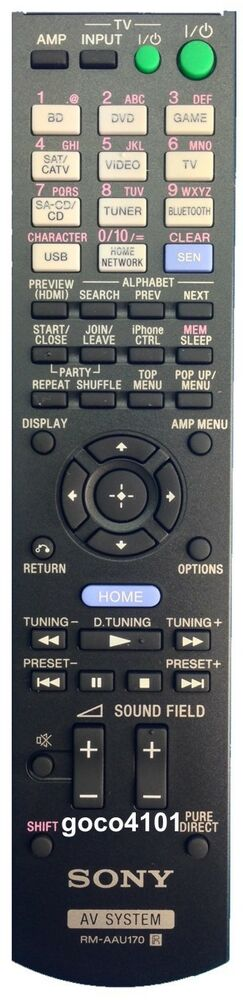 RM-AAU170 RMAAU170 GENUINE ORIGINAL SONY REMOTE CONTROL STRDN840 STR-DN840 NEW