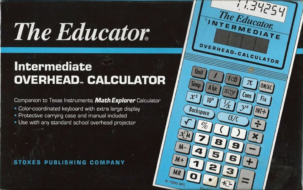 The Educator #204 Intermediate Overhead Calculator Companion to TI ...