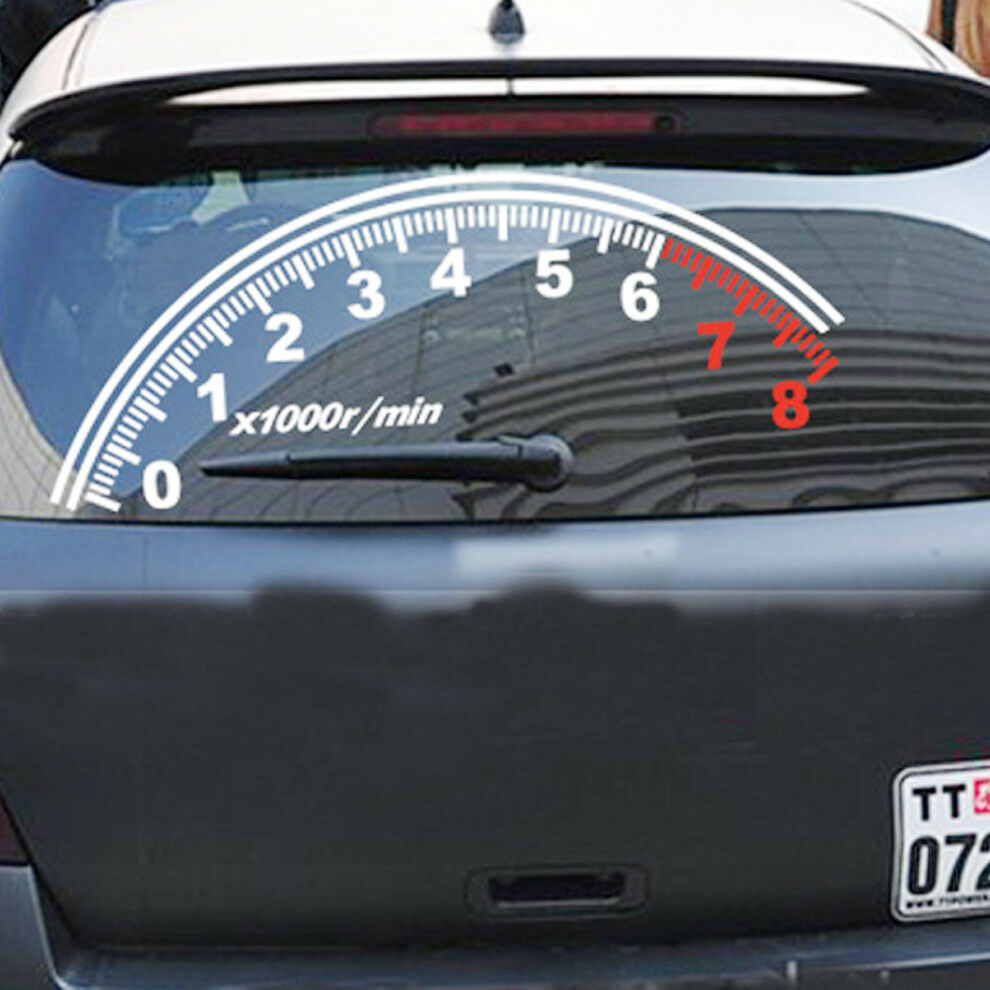 Details about auto odometer speedometer windshield reflective car stickers decor vinyl decal