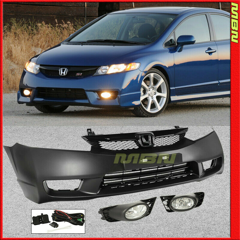 06-11 For Honda Civic SI Style Complete Kit Front Bumper