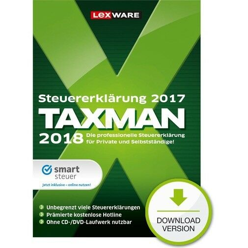 lexware taxman 2018 f r steuerjahr 2017 greenit. Black Bedroom Furniture Sets. Home Design Ideas