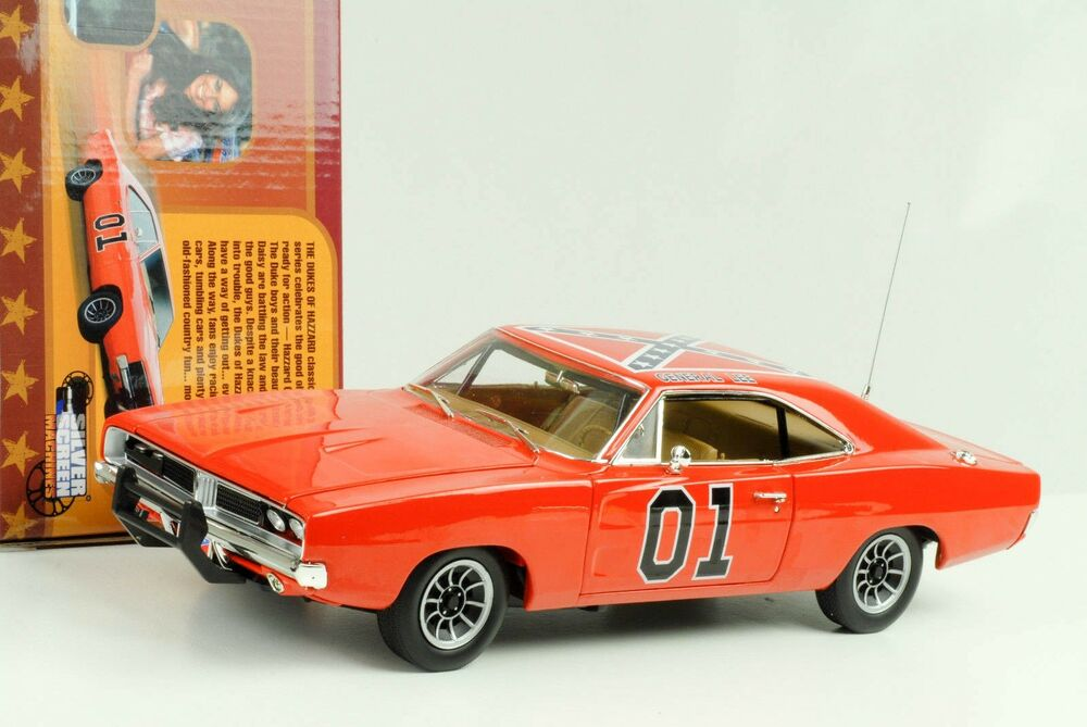 dodge charger 1969 general lee the dukes of hazard orange 1 18 ertl auto world ebay. Black Bedroom Furniture Sets. Home Design Ideas