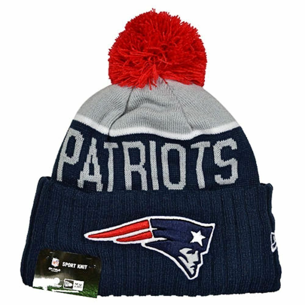 ead0fdf90d1 Details about New England Patriots Players Sideline Sports Knit Beanie Cap  Hat NFL New Era