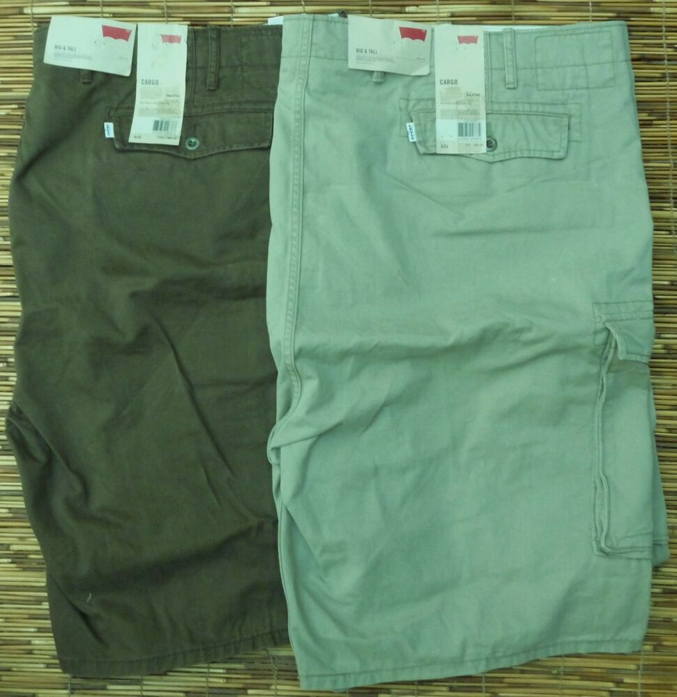 b1608120 Details about LEVI'S BIG & TALL MENS SIX POCKET DUTY RATED COTTON CARGO  SHORTS LIST $60