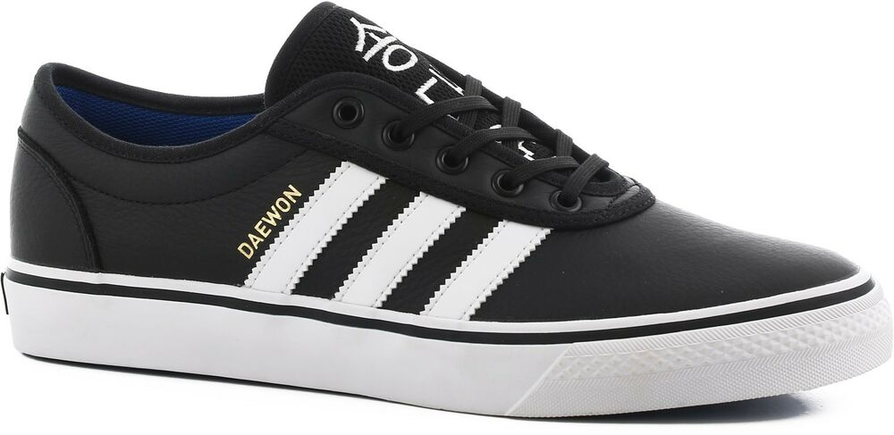 reputable site 1a0b0 b3b17 Details about 12.5 New adidas Originals ADI EASE DAEWON SONG SKATE SHOES  Black White CG4905