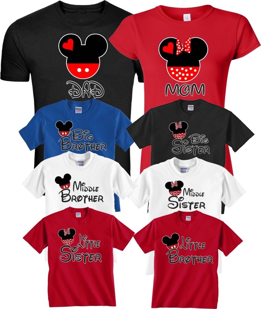 1d134dd9 Mom And Dad And Family Mickey Minnie NEW Disney funny cute Customized T- Shirts | eBay