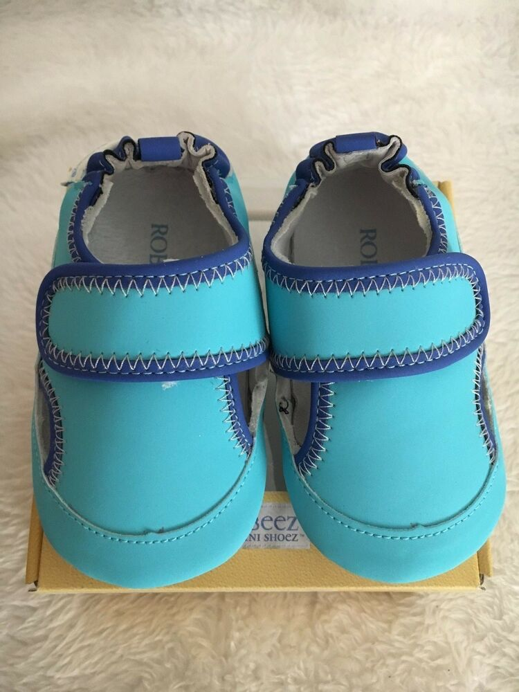 Robeez By Stride Rite Baby Boy Crib Shoes US Size 6/9