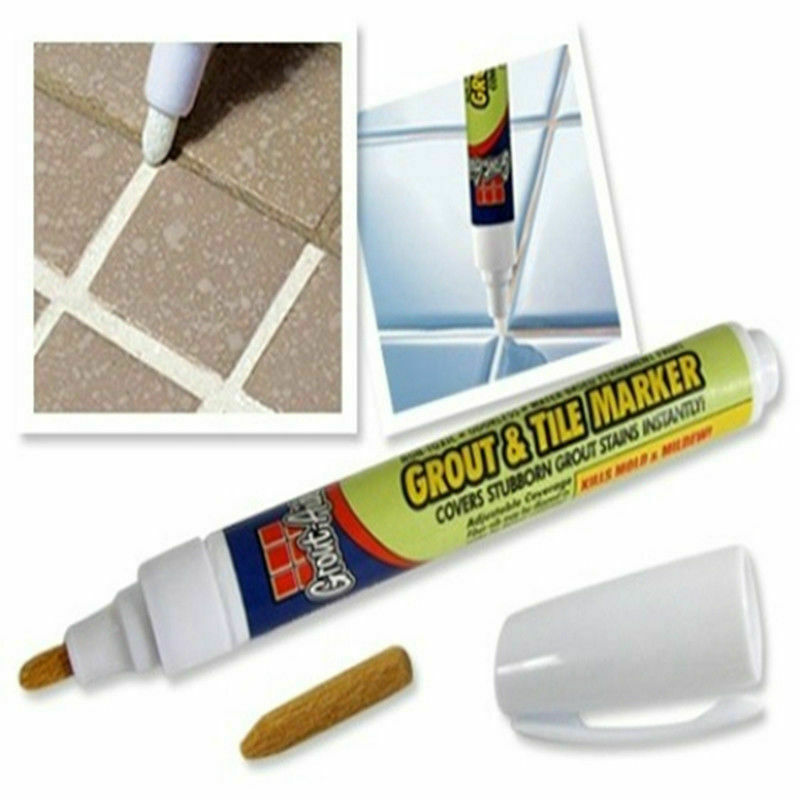 Grout Aide Tile Marker White Color Repair Wall Pen